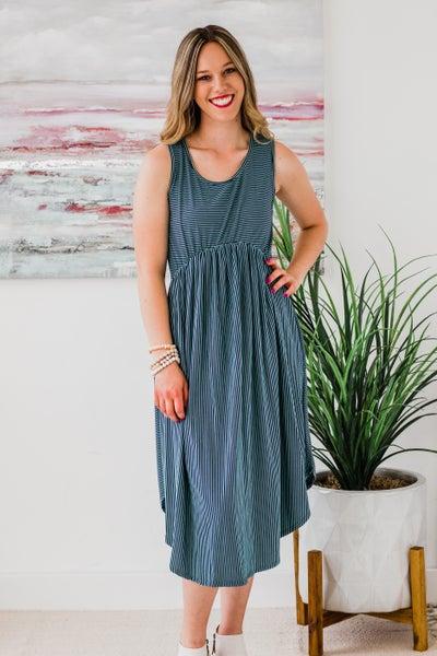 Navy & Blue Dress
