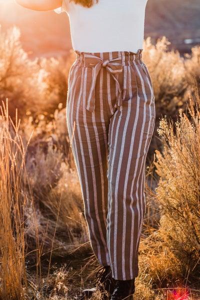 Striped Paper Bags Pants