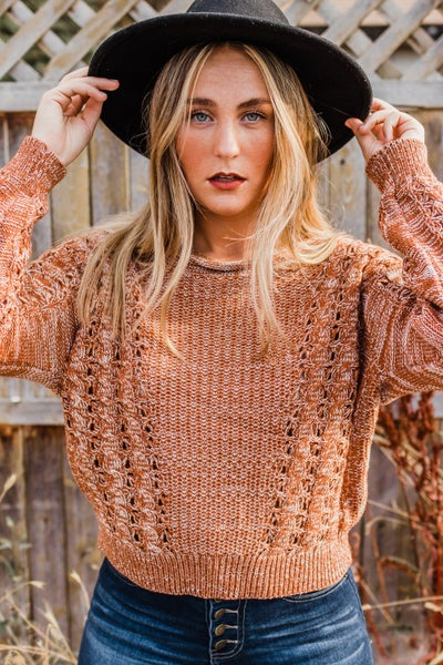 Rust & Ivory Knit Top