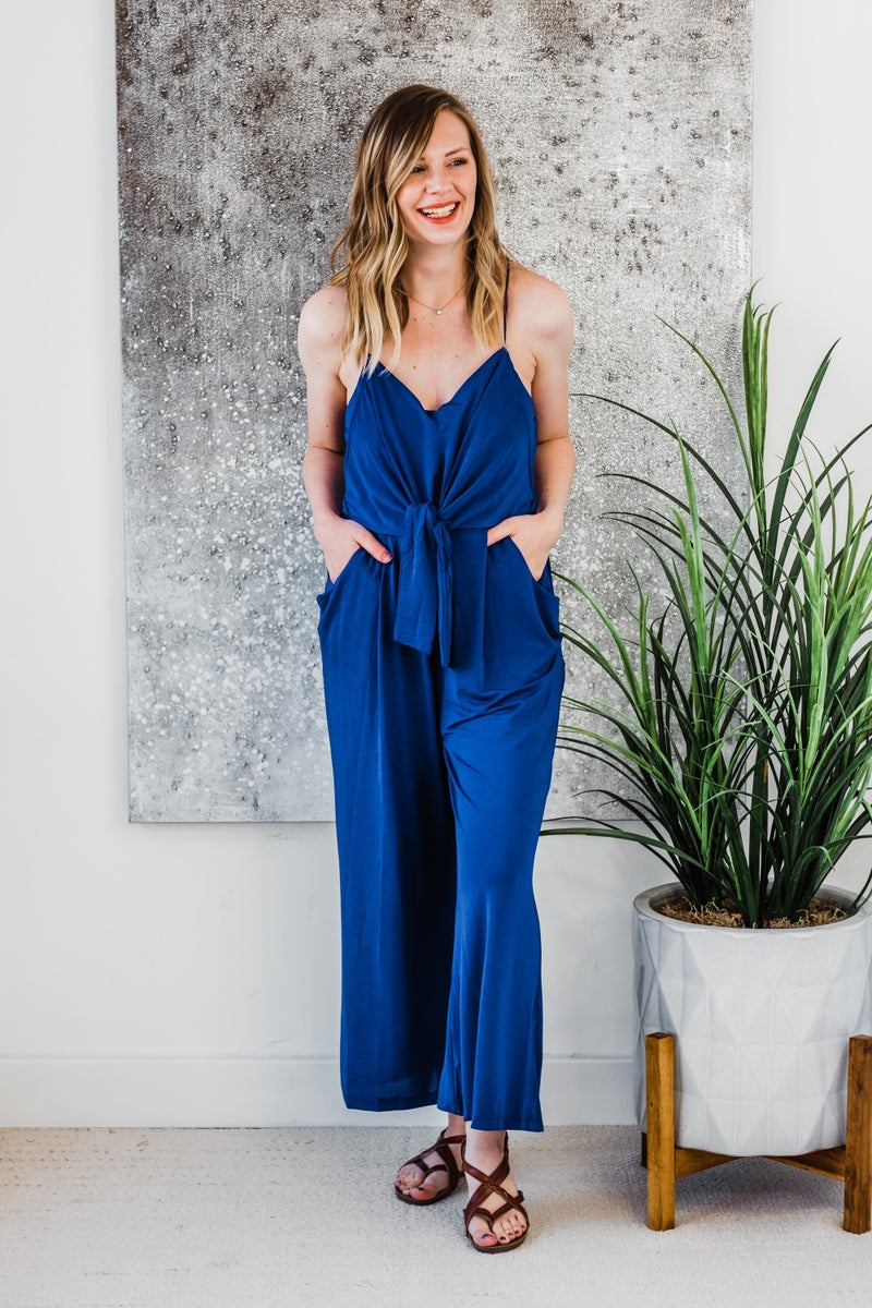Royal Blue Jumpsuit