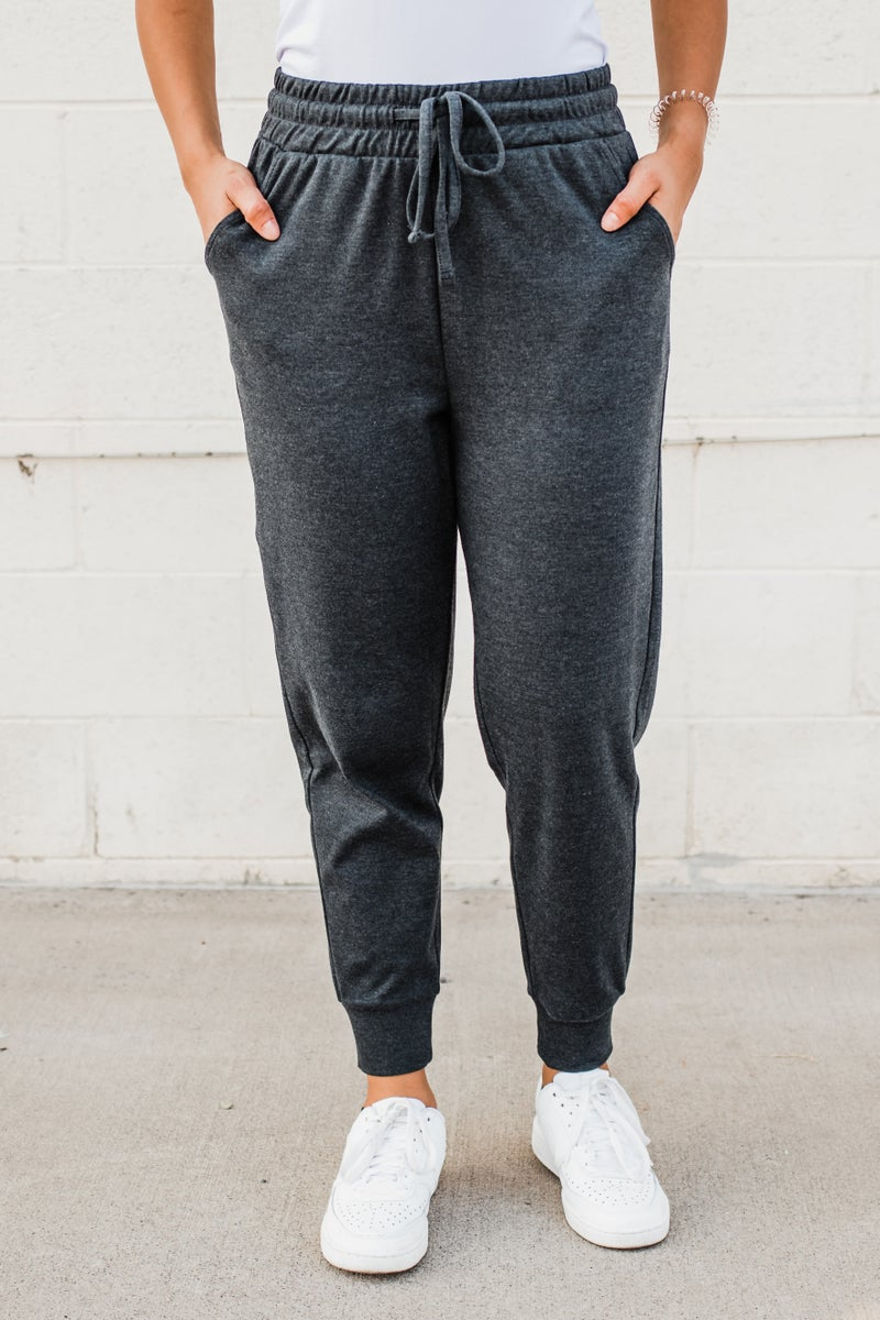 Solid Joggers w/ Adjustable Drawstring