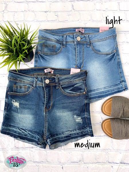 Raw Denim Shorts