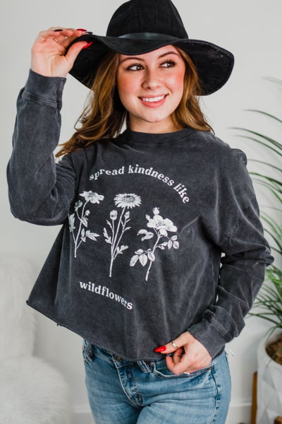 *.Erin's Closet* Kindness Long Sleeve Graphic *Final Sale*