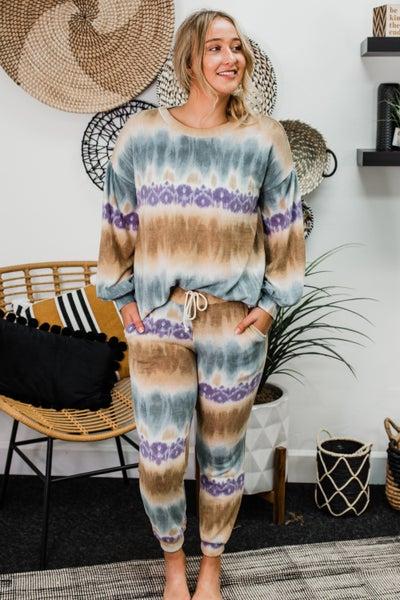 Teal & Taupe Loungewear *Final Sale*