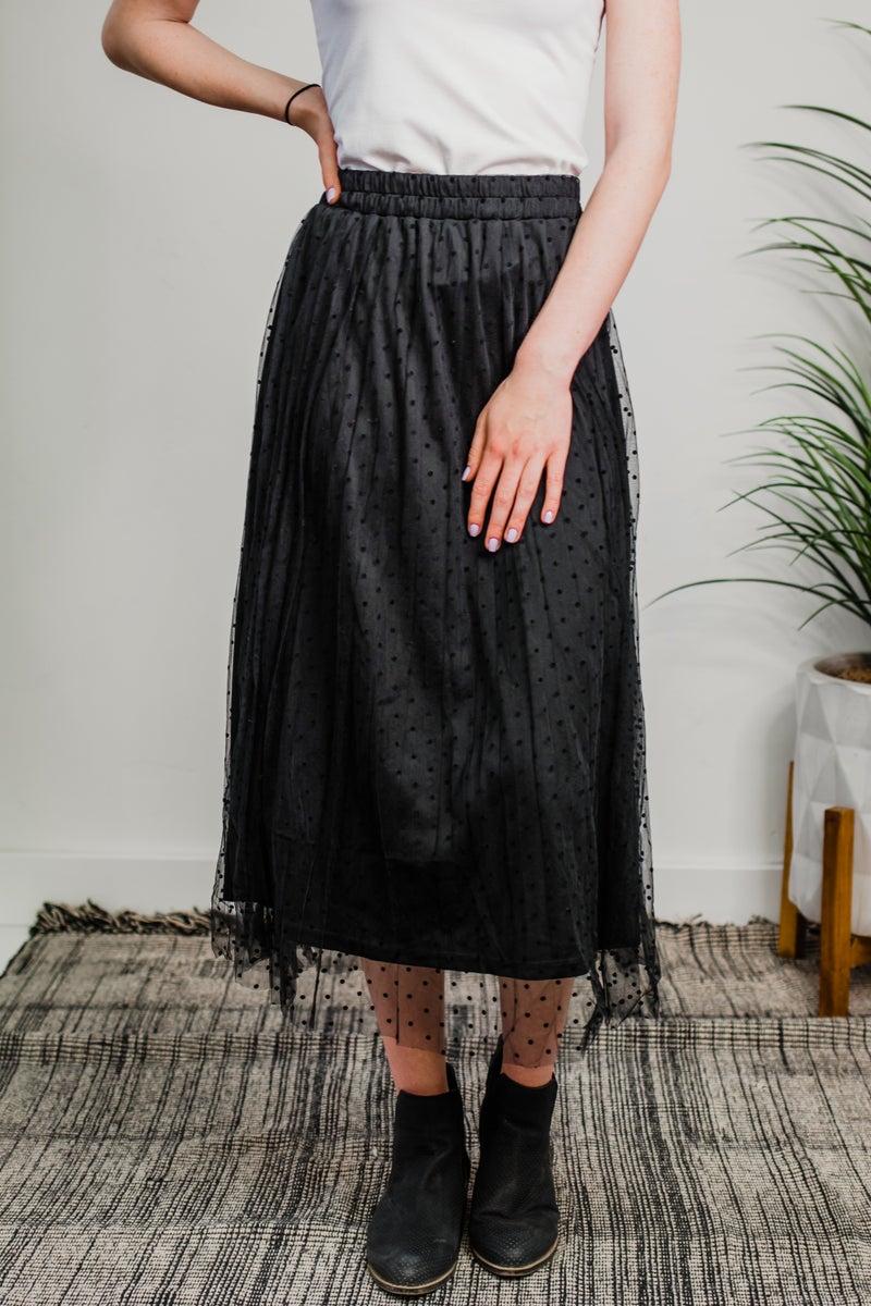 Black Skirt w/ Tulle