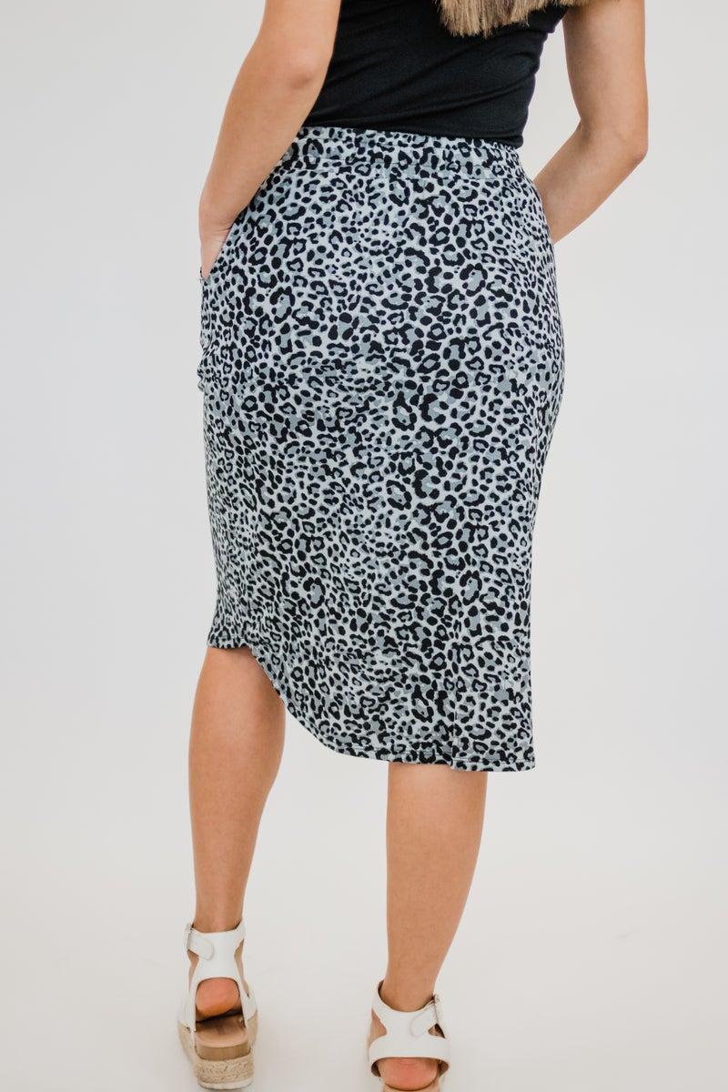 Animal Print Tulip Hem Skirt