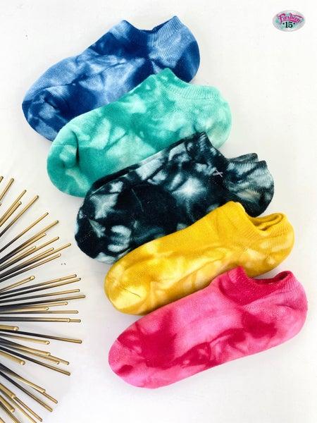 Colorful Tie Dye Socks Set