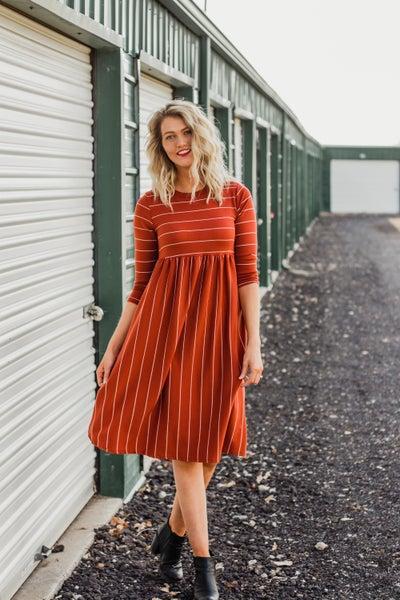 Striped Dress w/ Pockets *Final Sale*