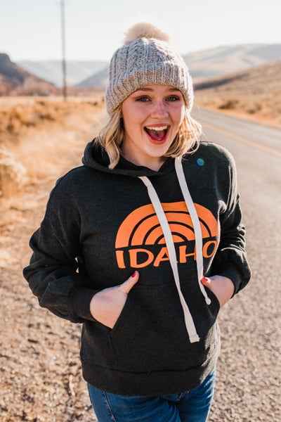 Charcoal & Orange Idaho Hoodie