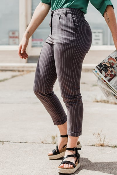 Pinstriped Pants