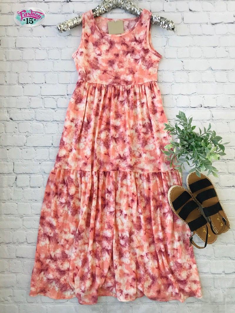 Plus Pink Midi Dress