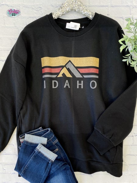 Plus Black Idaho Sweatshirt