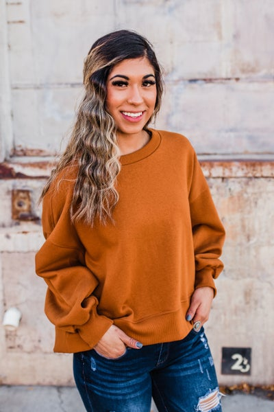 Solid Fleece Lined Sweater