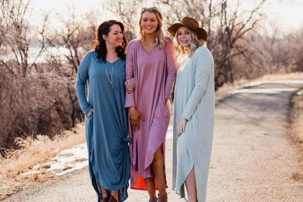 Super Soft Solid Maxi Dress w/ Pockets *Final Sale*