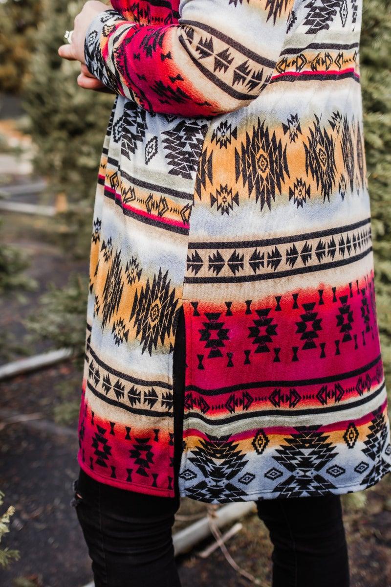 .~Colorful Aztec Cardigan