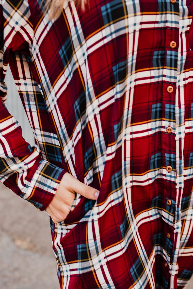 .Plus Plaid Tunic
