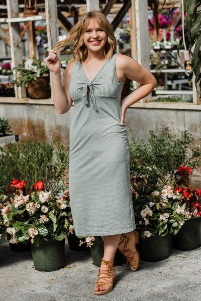 Sage & Ivory Striped Dress