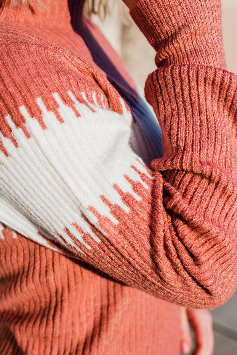 .Super Soft Mauve & Ivory Sweater