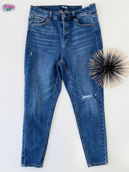 .Plus High Rise Skinny Denim