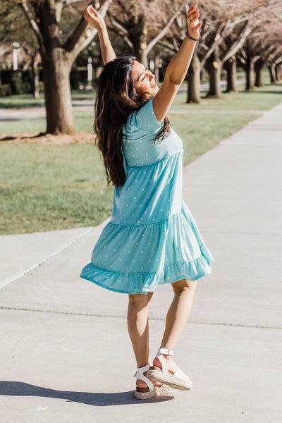 Baby Blue Polka Dot Dress