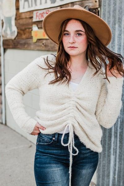 *Erin's Closet* Cream Knit Top