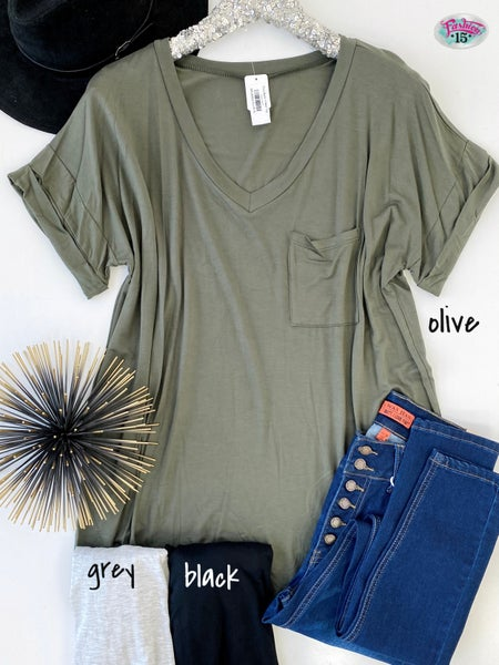 .Plus Basic V-Neck Top