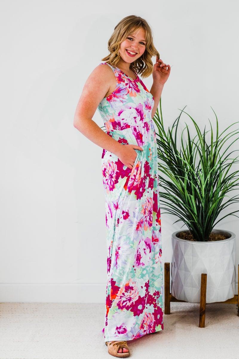 Colorful Floral Maxi Dress