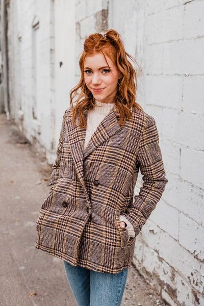 .Patterned Pea Coat