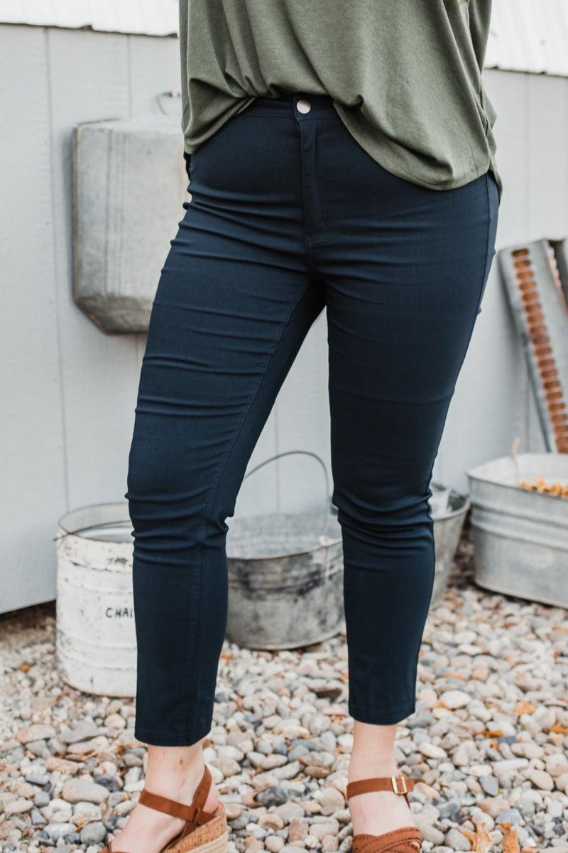 Plus Solid Pants