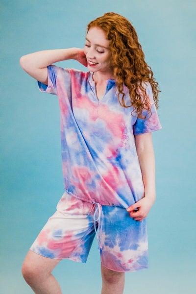 Pink & Blue Tie Dye Loungewear