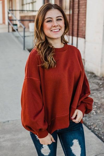 Solid Fleece Lined Sweater