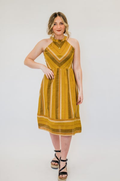 Mustard Chevron Dress