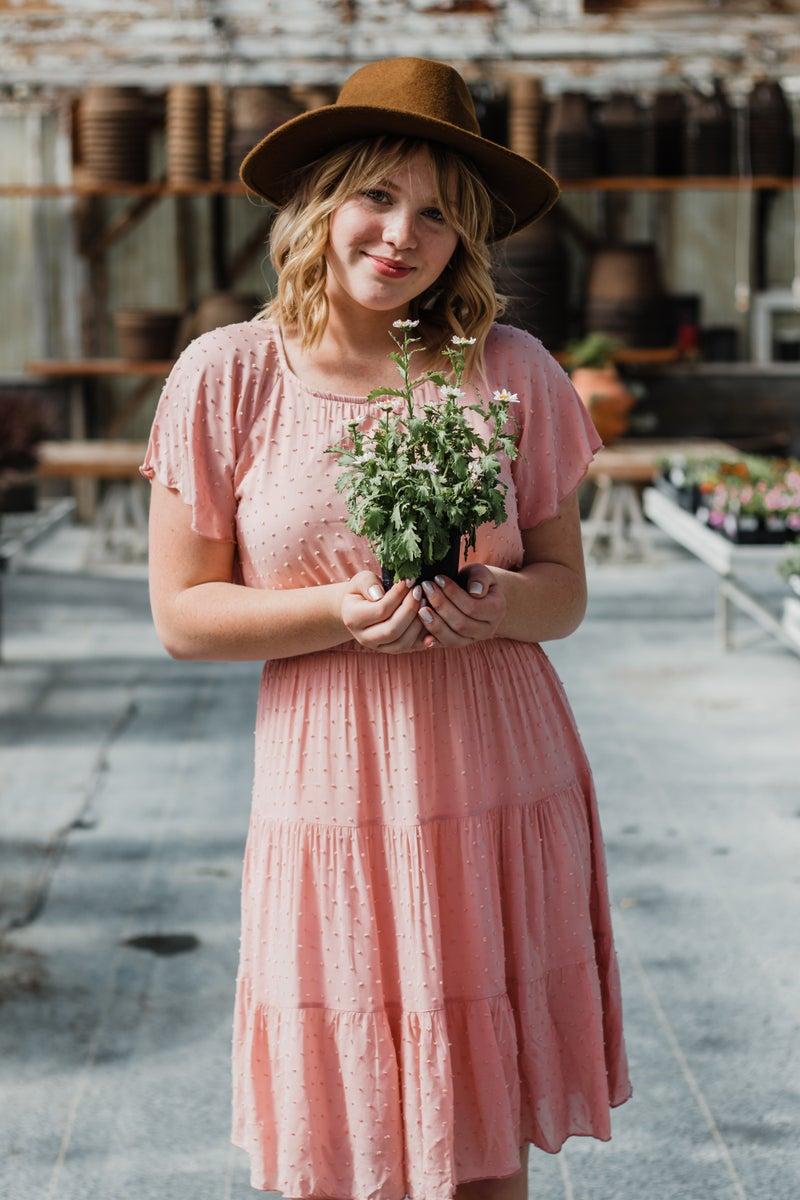 Textured Rose Pink Dress