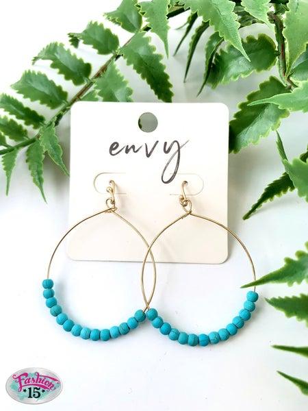 Turquoise Beaded Earring