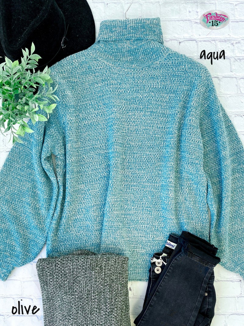 Plus Turtleneck Knitted Top