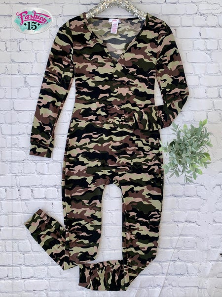 Camo Pajama Onsie