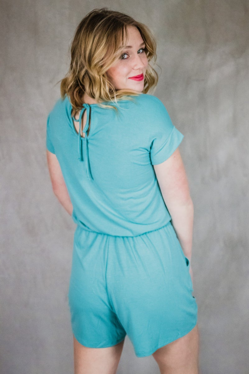 Short Sleeve Romper w/ Pockets