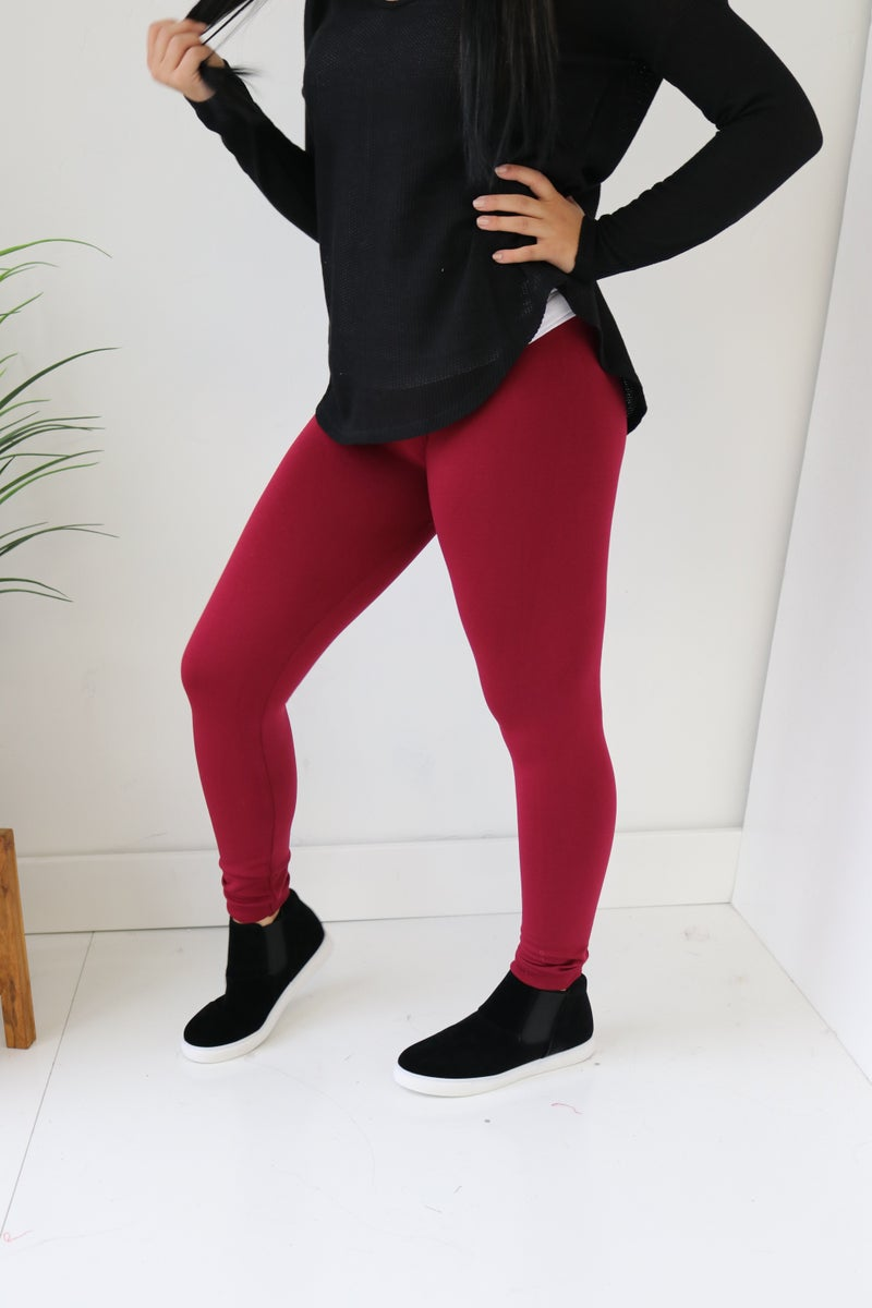 High Waisted Fleece Legging
