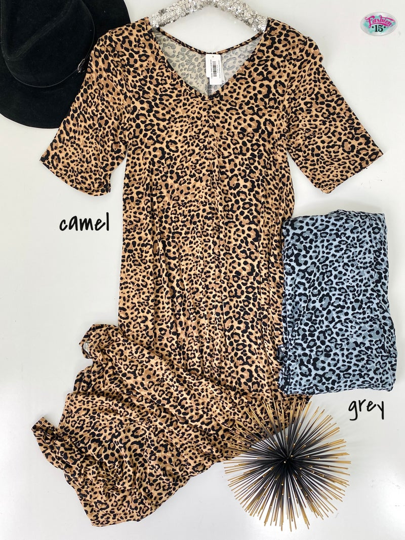 ~Animal Print Dress w/ Pockets