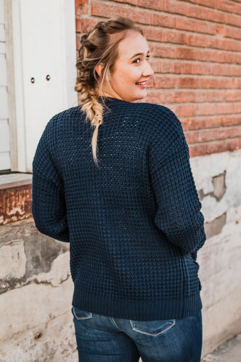 Knit Cardigan w/ Buttons