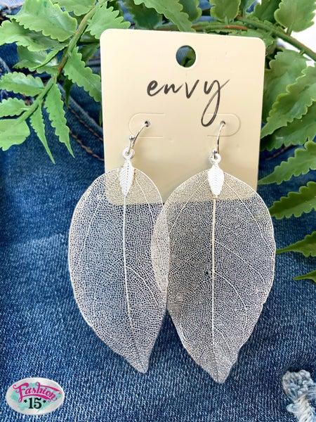 Silver Leaf Earrings *Final Sale*