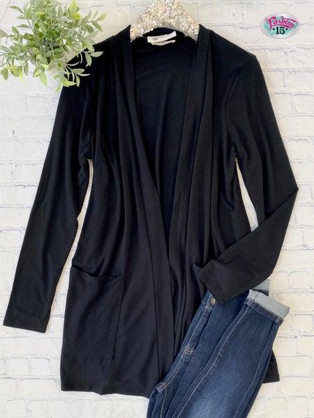 .Plus Solid Black Cardigan *Final Sale*