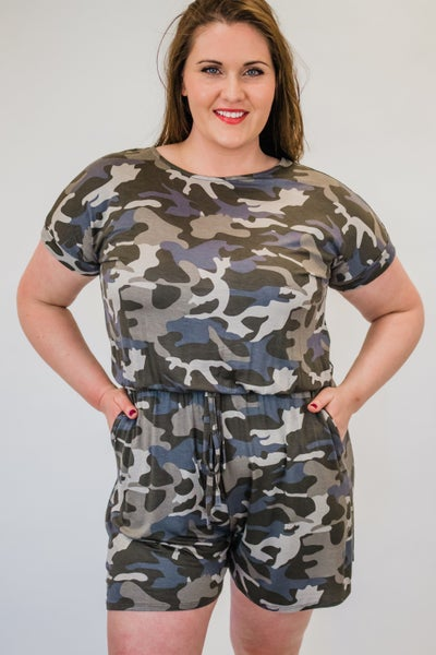 Plus Dusty Camo Romper