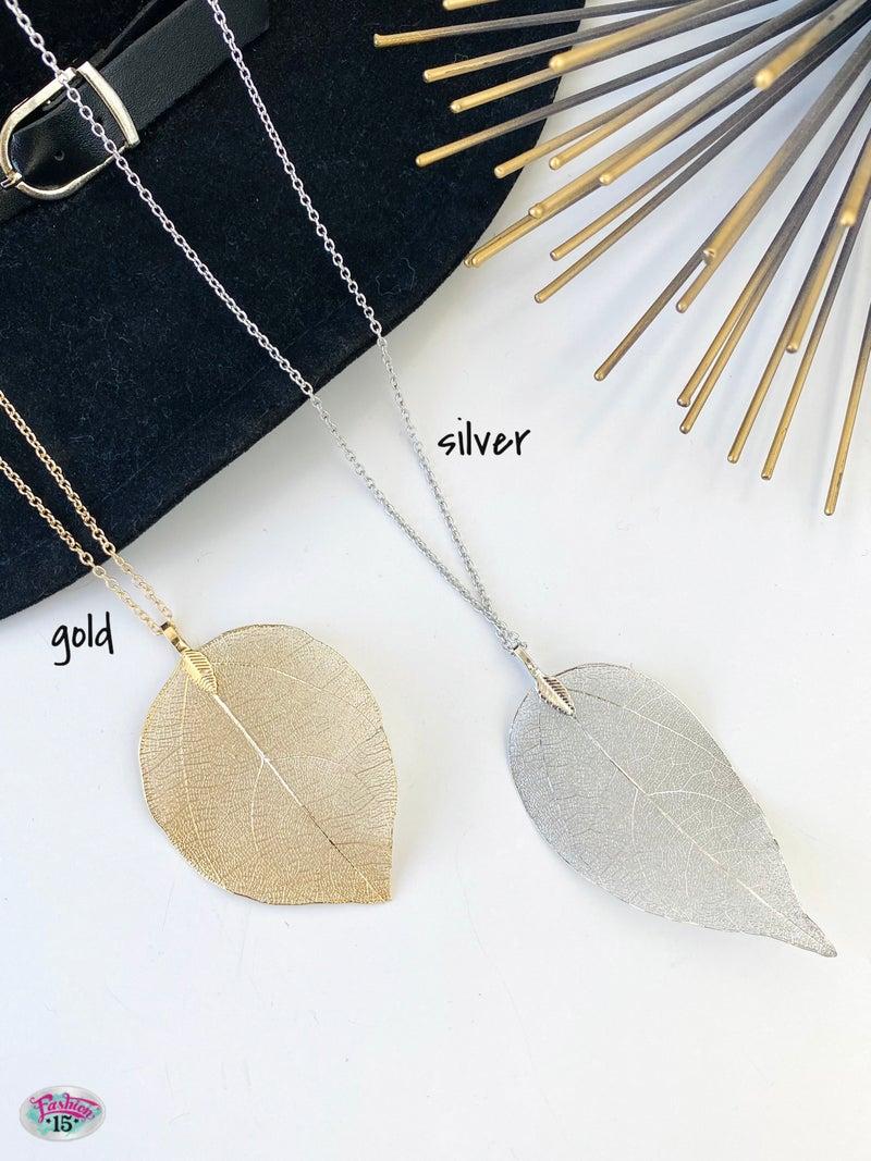 .Leaf Necklace