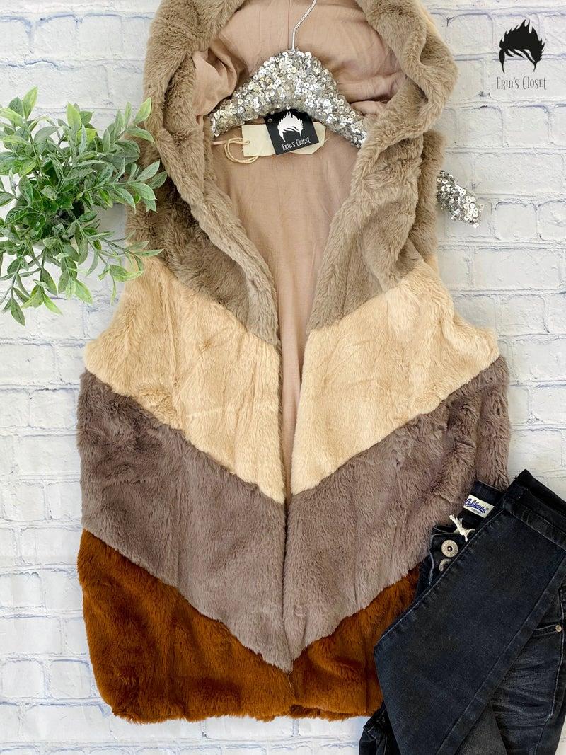 *Erin's Closet* Super Soft Hooded Vest