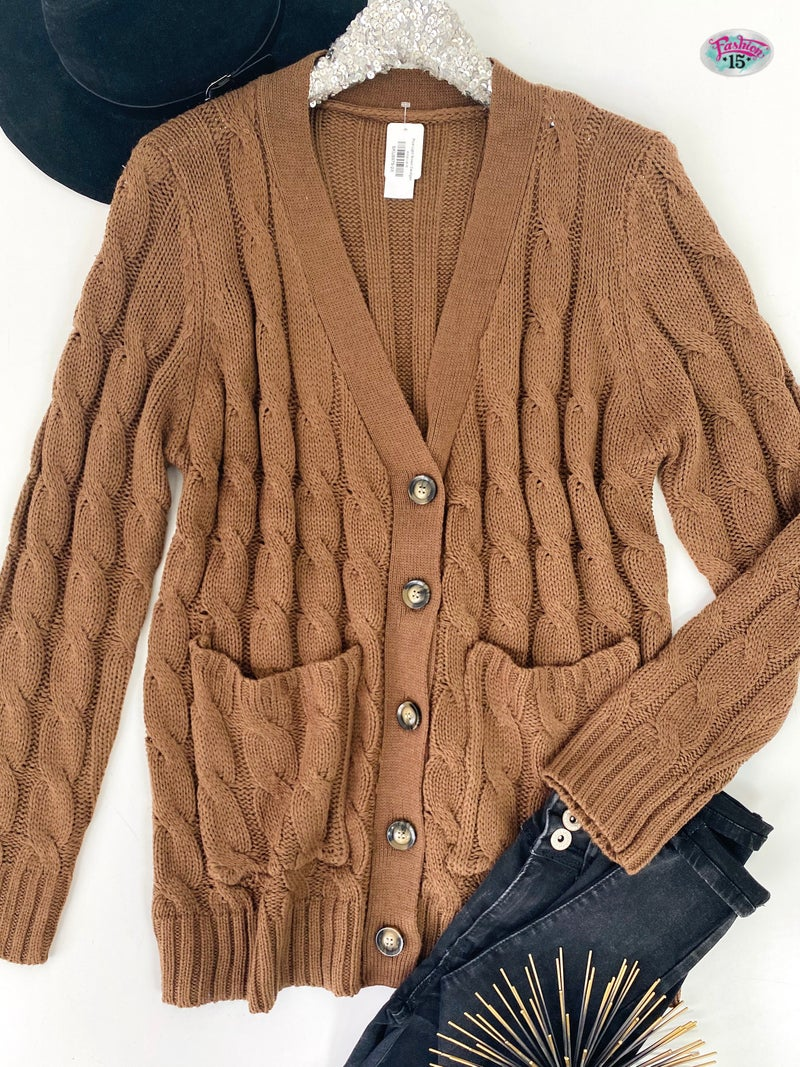 .Plus Light Brown Cardigan