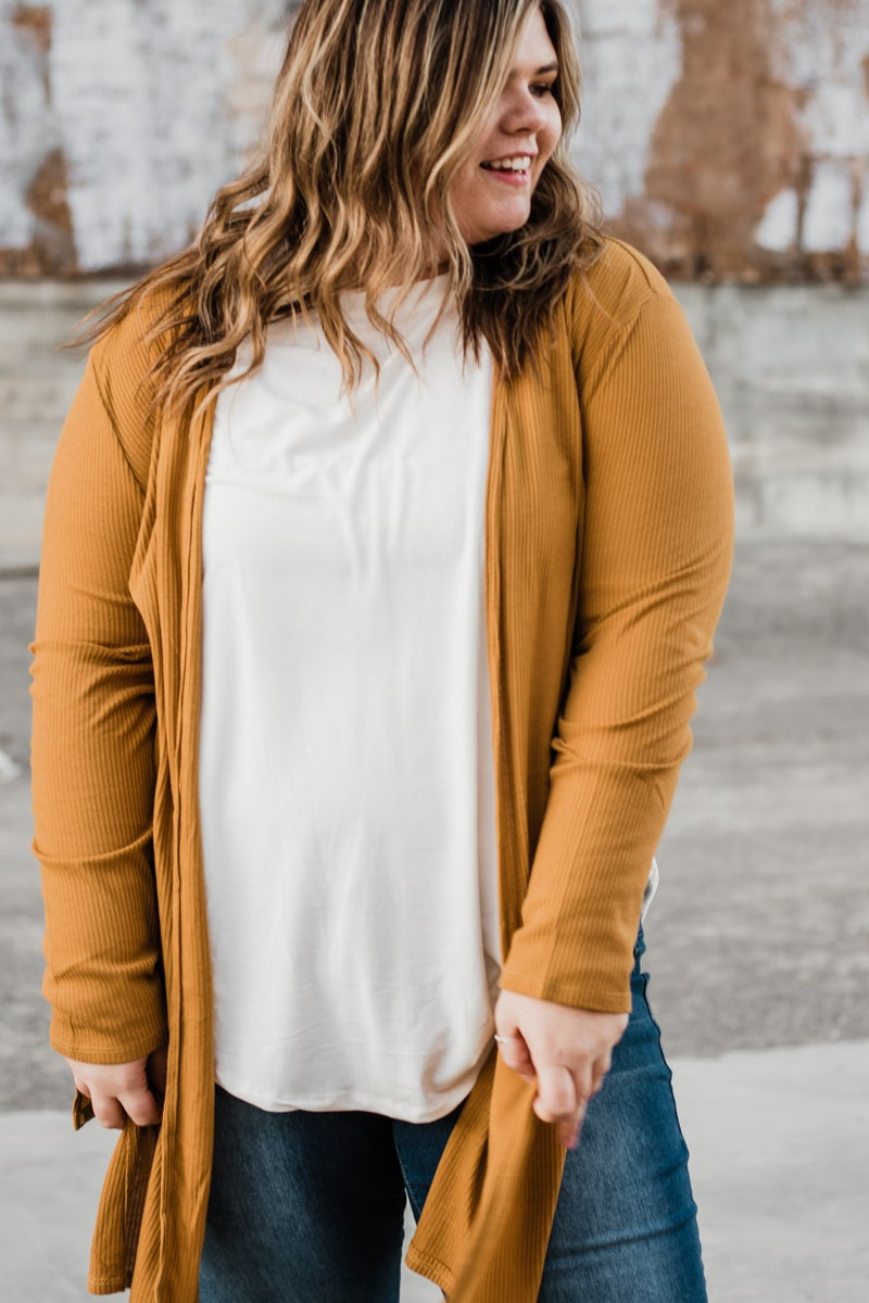 Plus Ribbed Duster