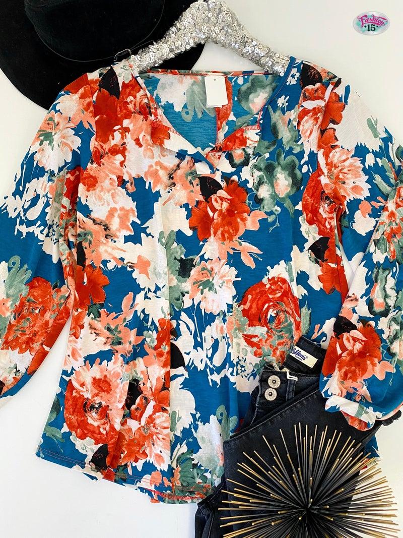 ~Floral Top