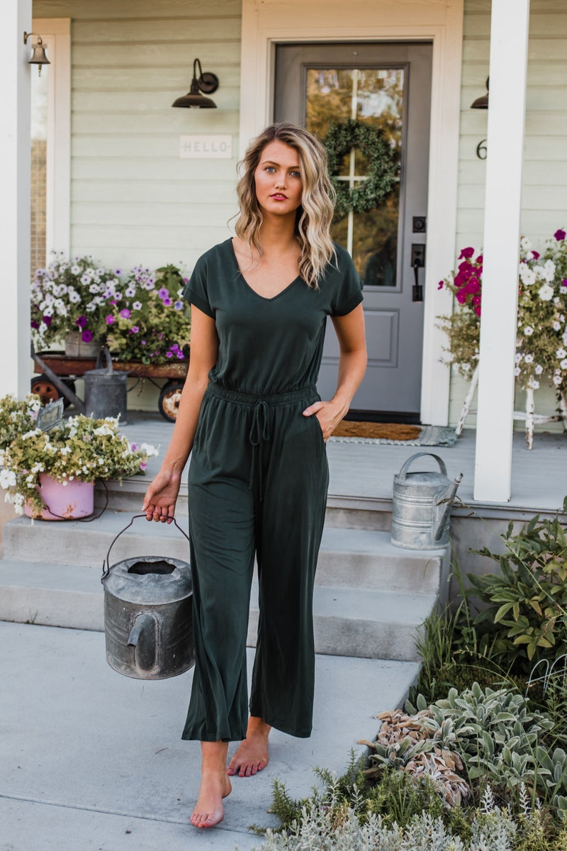Dark Emerald Modal Jumpsuit