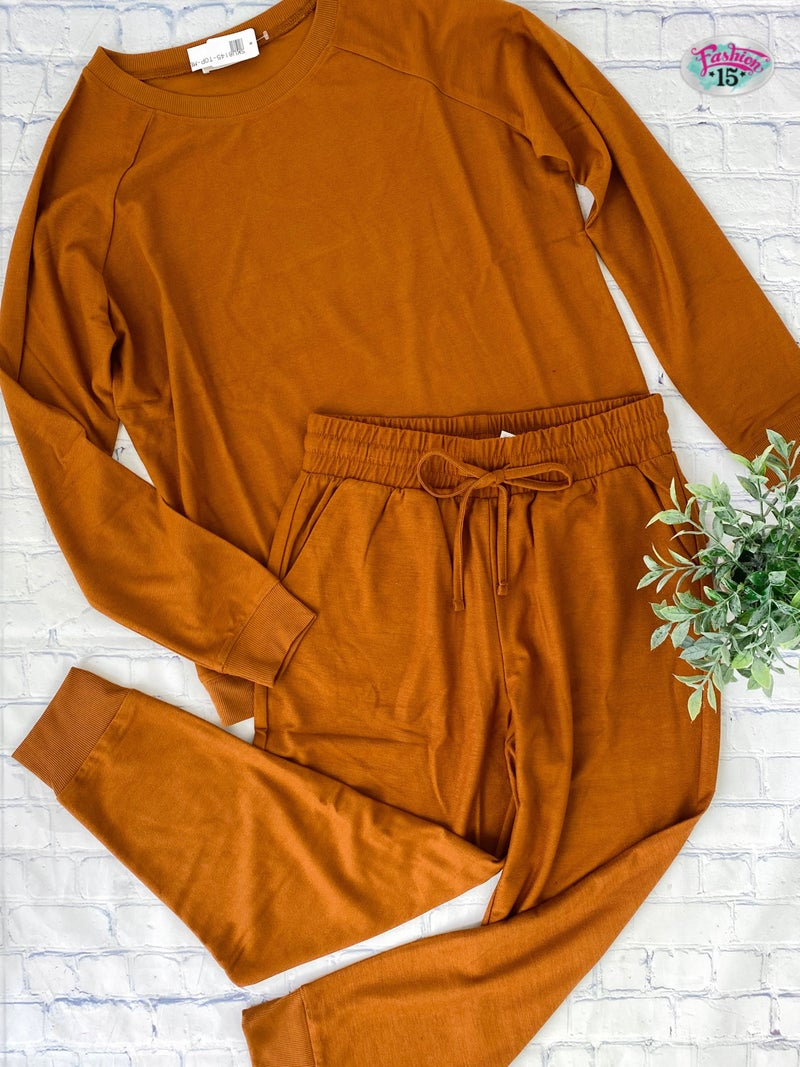 Plus Solid Rust Activewear